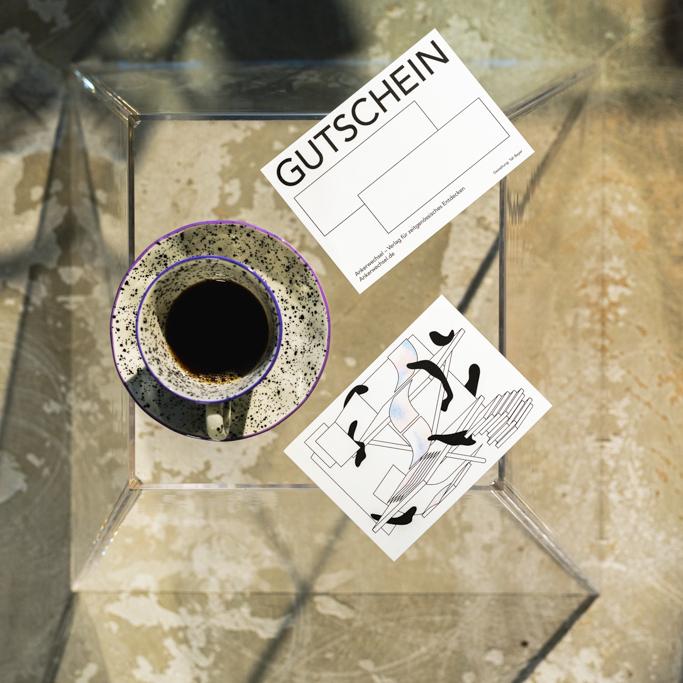 Ankerwechsel Verlag Gutschein mit Kaffee – Riso Druck